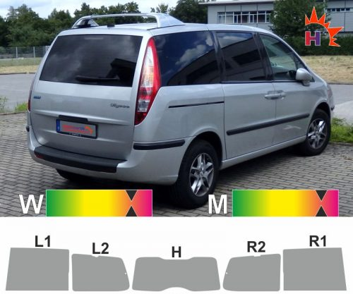 FIAT Ulysse 2002 bis 2014 passgenaue Tönungsfolie
