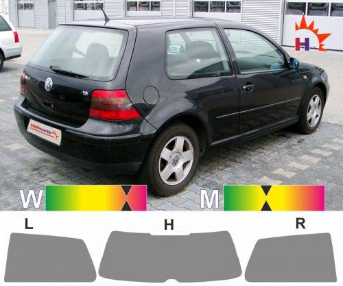 VW Golf IV dreitürig 1997 bis 2006 passende Tönungsfolie