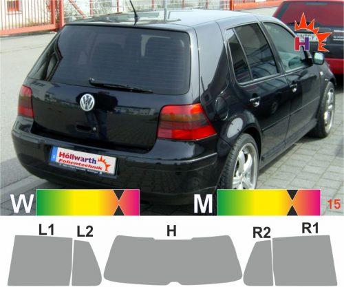 VW Golf IV fünftürig 1997 bis 2006 passende Tönungsfolie