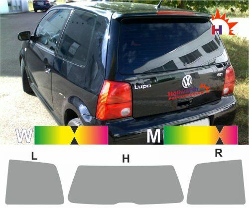 VW Lupo 1998 bis 2005 passgenaue Tönungsfolie