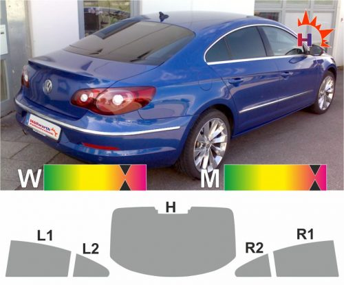 VW Passat CC Typ 35 2008 bis 2012 passende Tönungsfolie