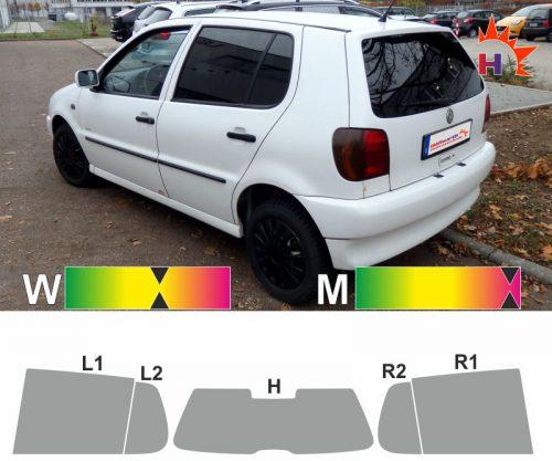VW Polo III 6N fünftürig 1997 bis 2001 Tönungsfolie passgenau