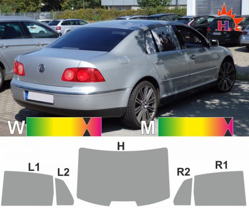VW Pheaton 2001 bis 2016 passgenaue Tönungsfolie