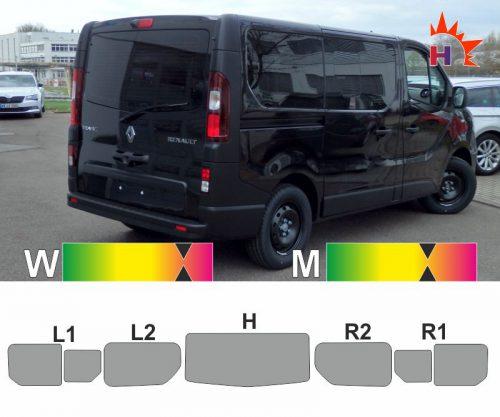 RENAULT Trafic III L1 H1 mit Schiebefenster passgenaue Tönungsfolie
