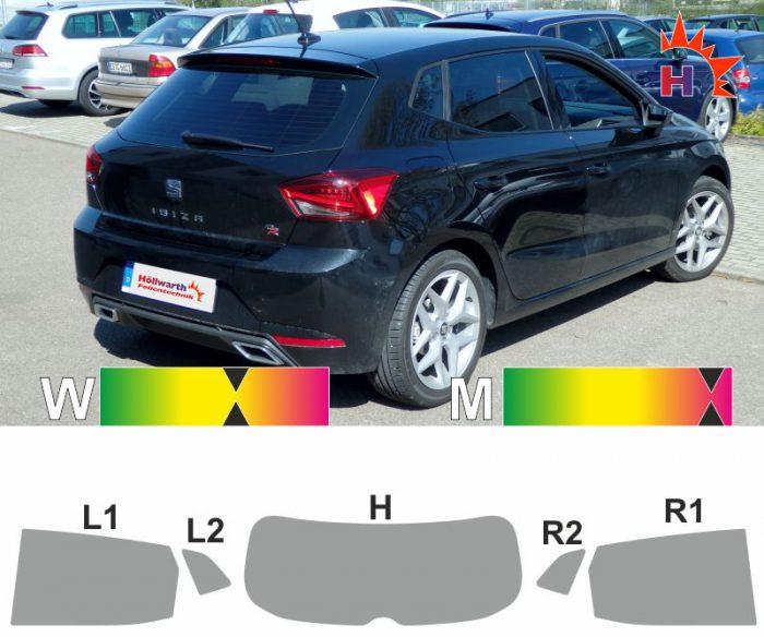 SEAT Ibiza 6F ab 2017 passgenaue Tönungsfolie