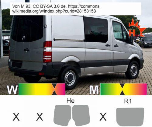 MERCEDES Sprinter II Mixto 2018 passgenaue Tönungsfolie