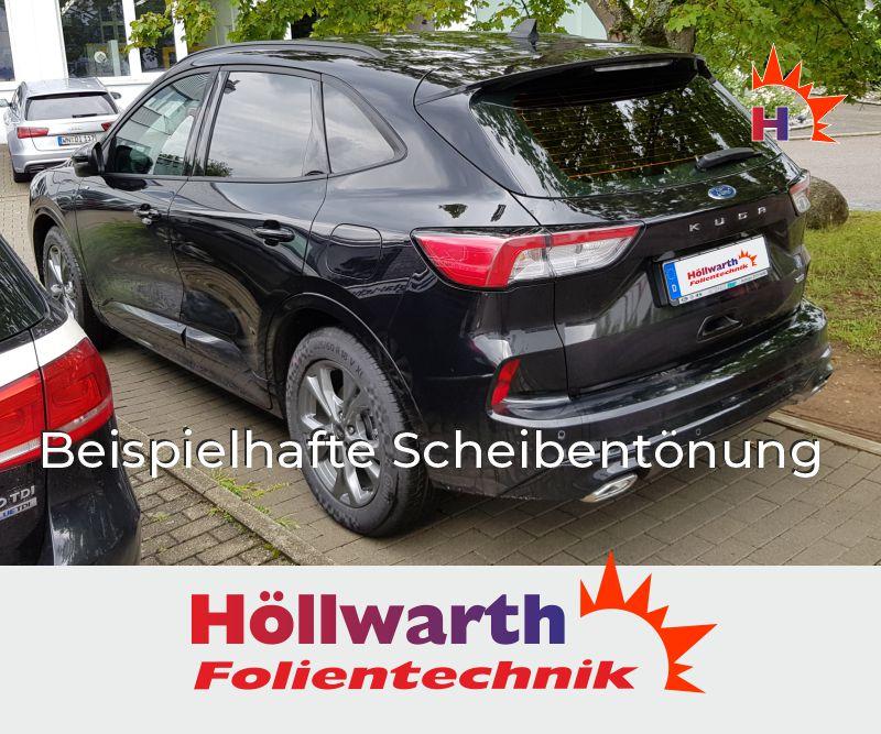 Passgenaue T/önungsfolie passend f/ür Ford Ecosport SUV Bj 2014-2019 Black 85